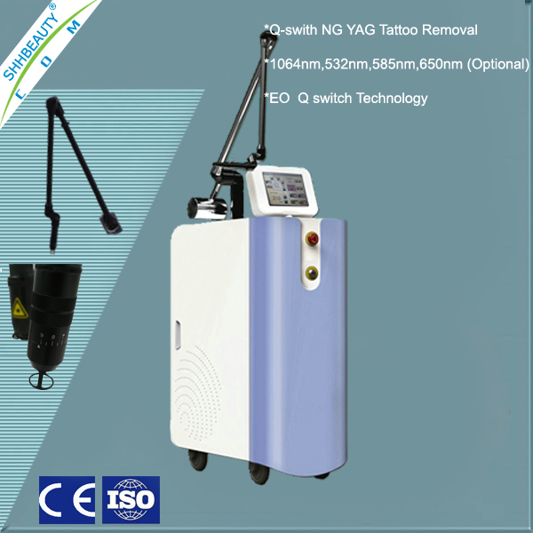 Medical Active EO Q Switch ND YAG/Dye Laser Tattoo Removal Machine SH354